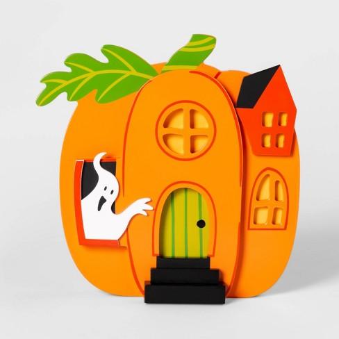 Mini Mantel Pumpkin House Halloween Dcor - Hyde & EEK! Boutique™ - image 1 of 1