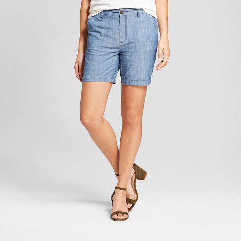 """Women's 7"""" Chino Shorts - A New Day™ Chambray - image 1 of 3"""