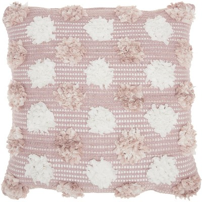 Mina Victory Life Styles Woven Chindi Flowers Throw Pillow