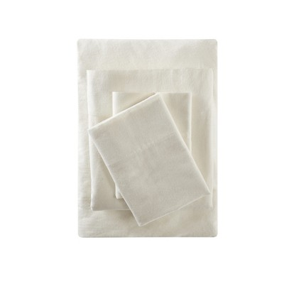Solid Flannel Sheet Set (California King)Ivory