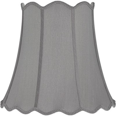 Springcrest Morell Gray Scallop Bell Lamp Shade 10x16x16 (Spider)