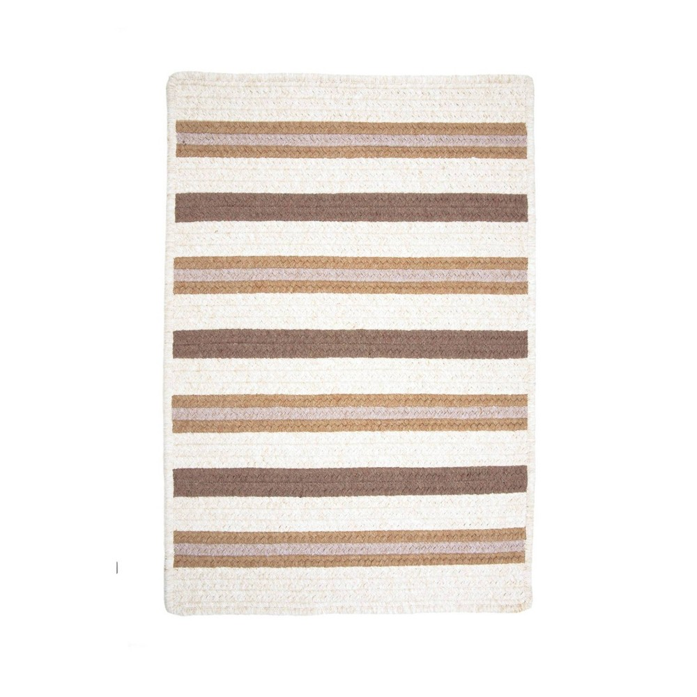 Uptown Stripe Braided Area Rug Gold