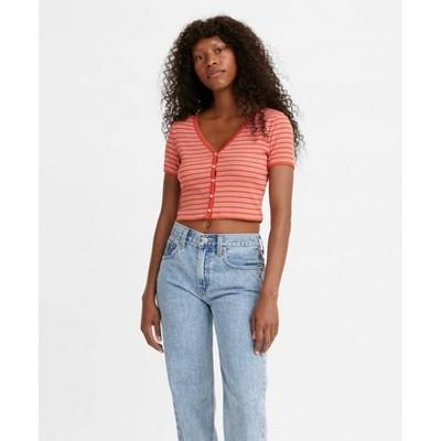 Levi's® Women's Short Sleeve V-Neck Cropped Gema T-Shirt
