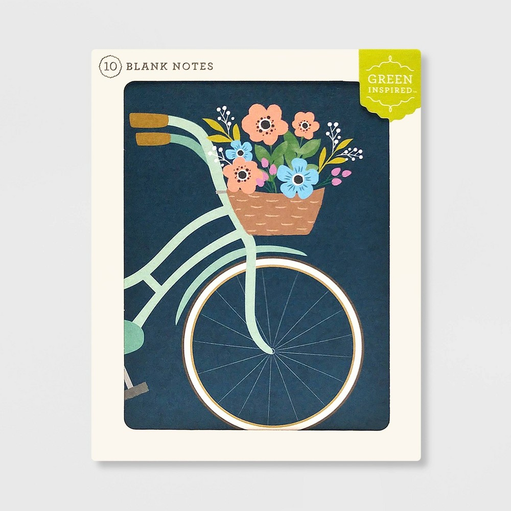 Image of 10ct Bicycle Blank Notes, cards and card packs