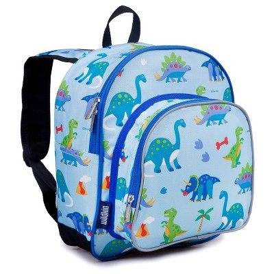 "Wildkin 12.5"" Olive Pack 'n Snack Kids' Backpack - Dinosaur Land"