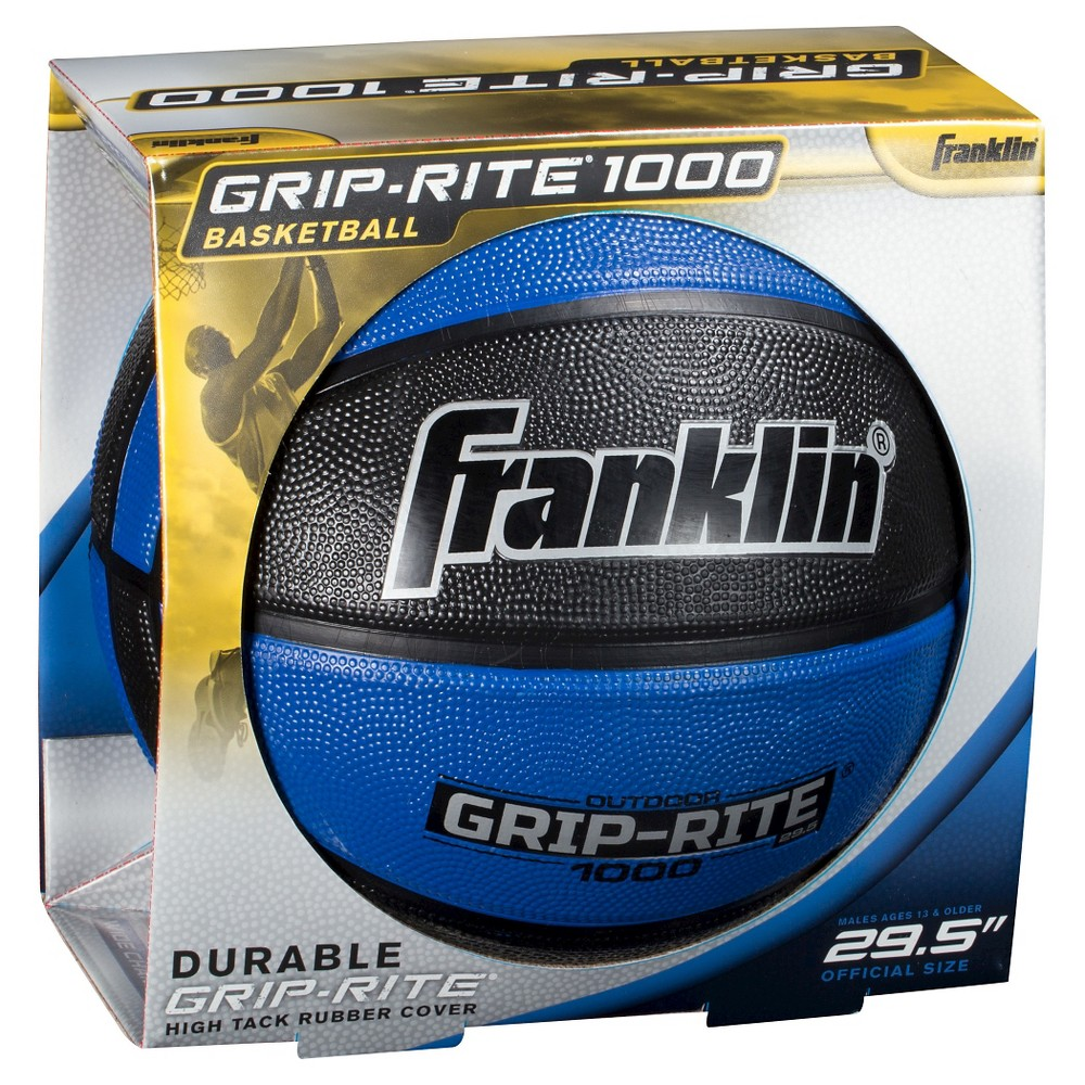 "Franklin Sports Grip Rite 1000 29.5"" Official Basketball - Blue, Adult Unisex"