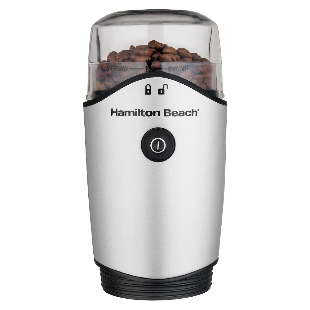 Image of Hamilton Beach Chamber Coffee Grinder- 80350, Silver