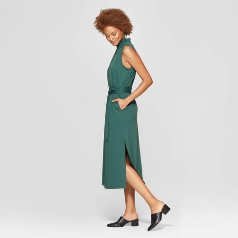 fcede1944cd6a Women s Sleeveless Crewneck Midi Dress - Prologue™ Green   Target
