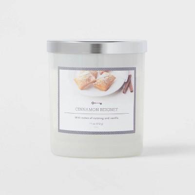 Glass Jar Cinnamon Beignet Candle - Threshold™