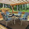 Aurora Stripe Clean Finish Outdoor Chair Cushion Sapphire - Arden Selections - image 2 of 2