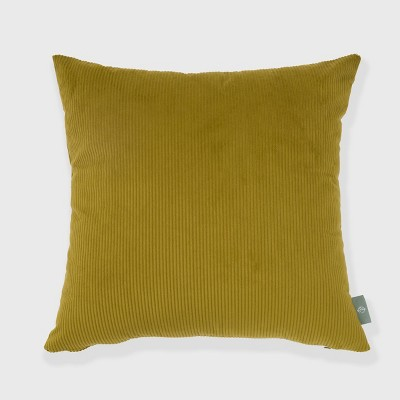 """18""""x18"""" Solid Ribbed Textured Square Throw Pillow Green - freshmint"""