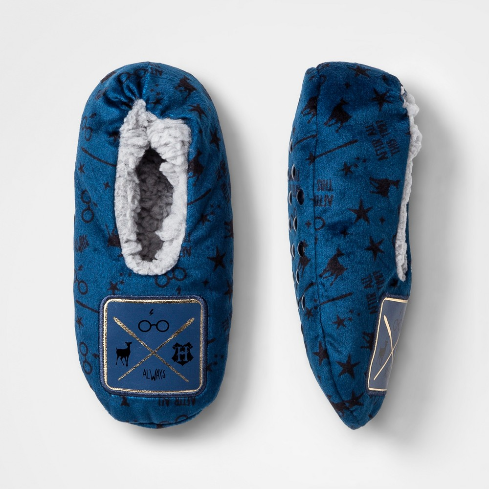 Boys' Harry Potter Slipper Socks - Navy S/M, Blue
