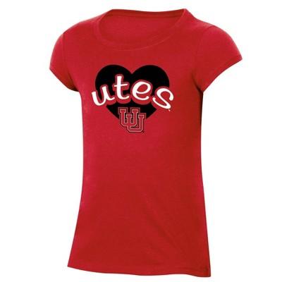 NCAA Utah Utes Girls' Short Sleeve Scoop Neck T-Shirt
