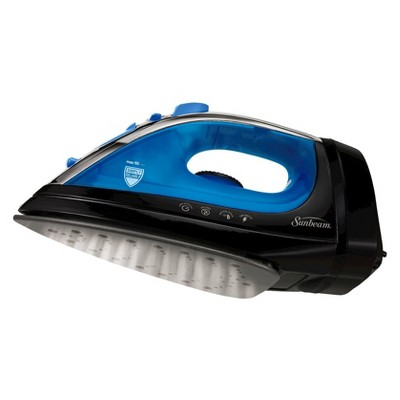 Sunbeam® Steam Master® Iron with Retractable Cord Black/Blue