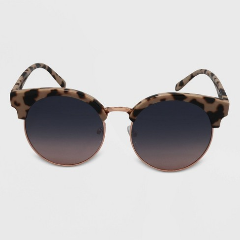 Women's Clubmaster Plastic Metal Silhouette Round Sunglasses - Wild Fable™ Brown - image 1 of 2