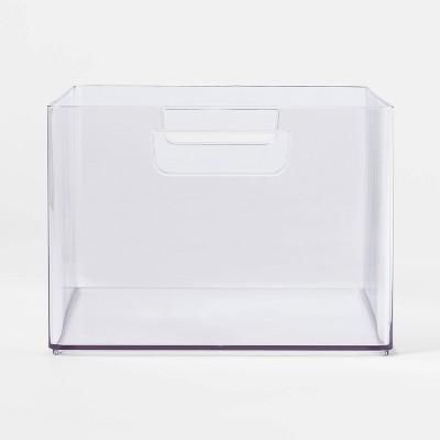 Medium Bathroom Organizer Bin with Handles Clear - Made By Design™