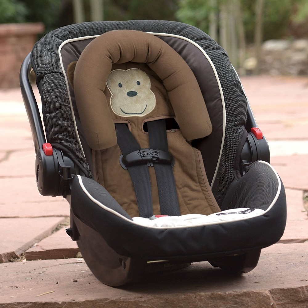 Image of Go by Goldbug Monkey Adjustable Car Seat Head Support, Brown
