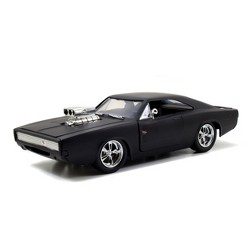 Jada Toys Fast & Furious 1970 Dodge Charger R/T Die-Cast Vehicle 1:24 Scale Primer Black