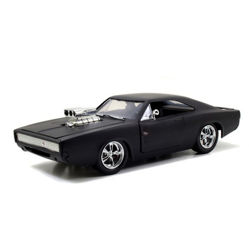 Jada Toys Fast & Furious 1970 Dodge Charger R/T Die-Cast Vehicle 1:24 Scale Primer Black - image 1 of 4