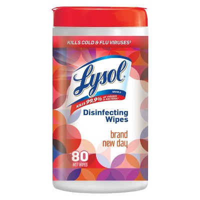 Lysol Disinfecting Wipes, Brand New Day, 80 wipes