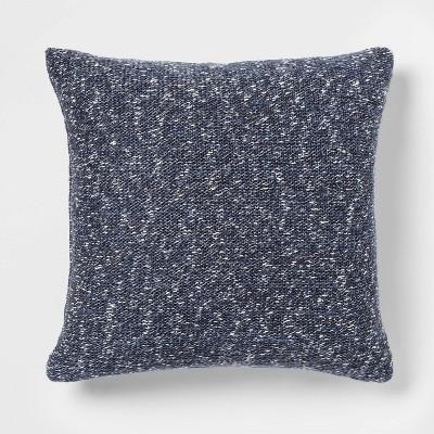 Marled Sweaterknit Oversize Square Pillow Blue - Threshold™