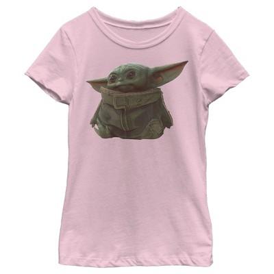 Girl's Star Wars The Mandalorian The Child Portrait T-Shirt
