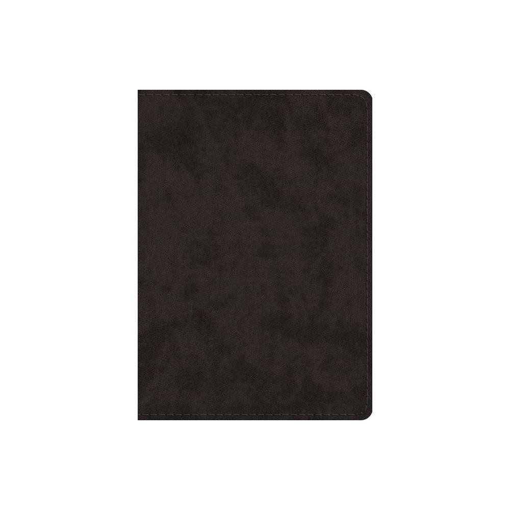 Esv Study Bible Large Print Trutone Black Leather Bound