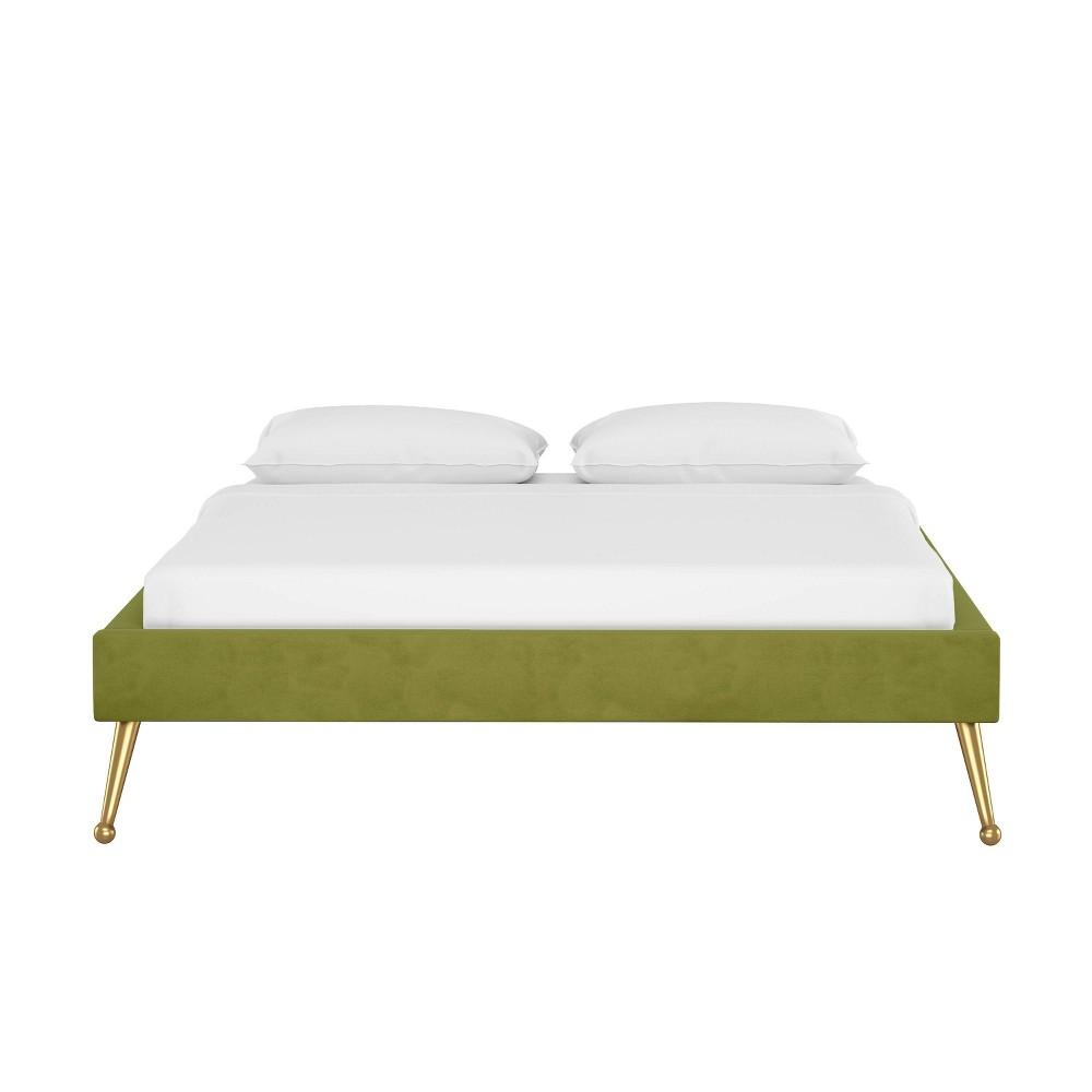 California King Valera Platform Bed Velvet Applegreen Opalhouse 8482