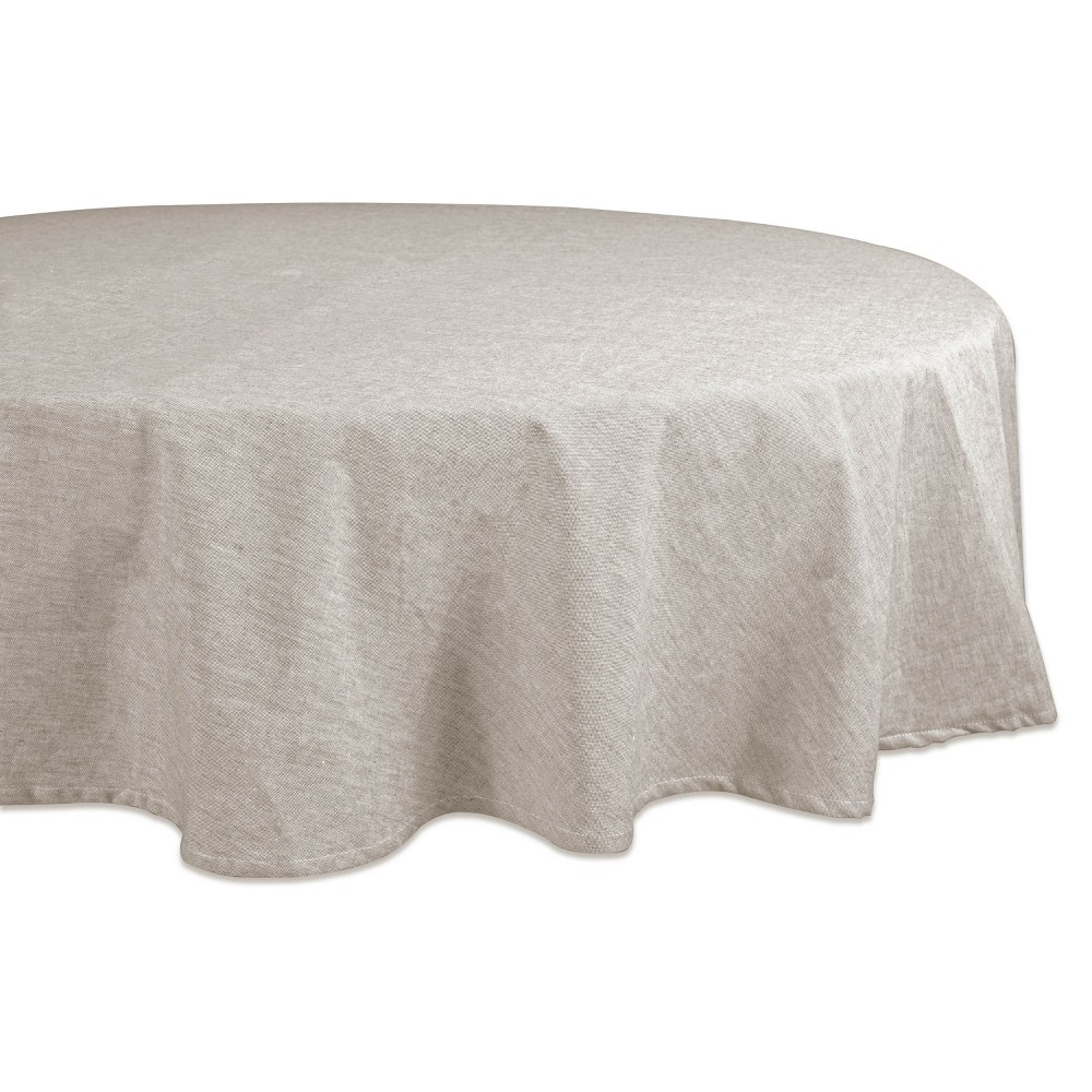 "Image of ""70""""R French Chambray Tablecloth Natural - Design Imports"""