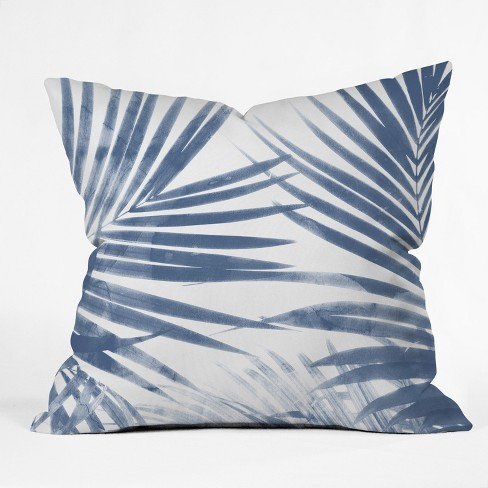 Emanuela Carratoni Serenity Palms Throw Pillow Blue - Deny Designs - image 1 of 4