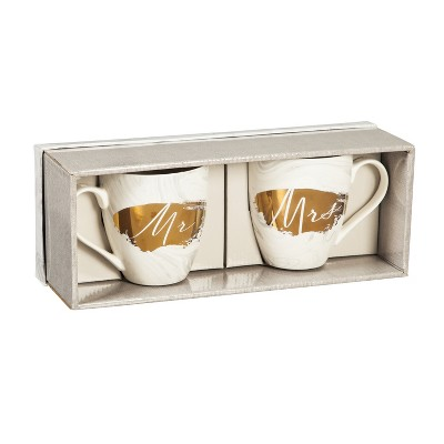Cypress Home Ceramic 17 Oz Cups Gift Set, Bliss