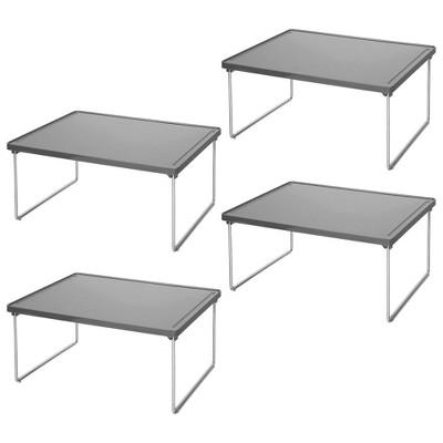 mDesign Metal Closet Organizer Storage Shelf
