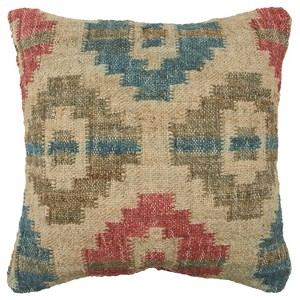 Geometric Decorative Filled Oversize Square Throw Pillow Green - Rizzy Home