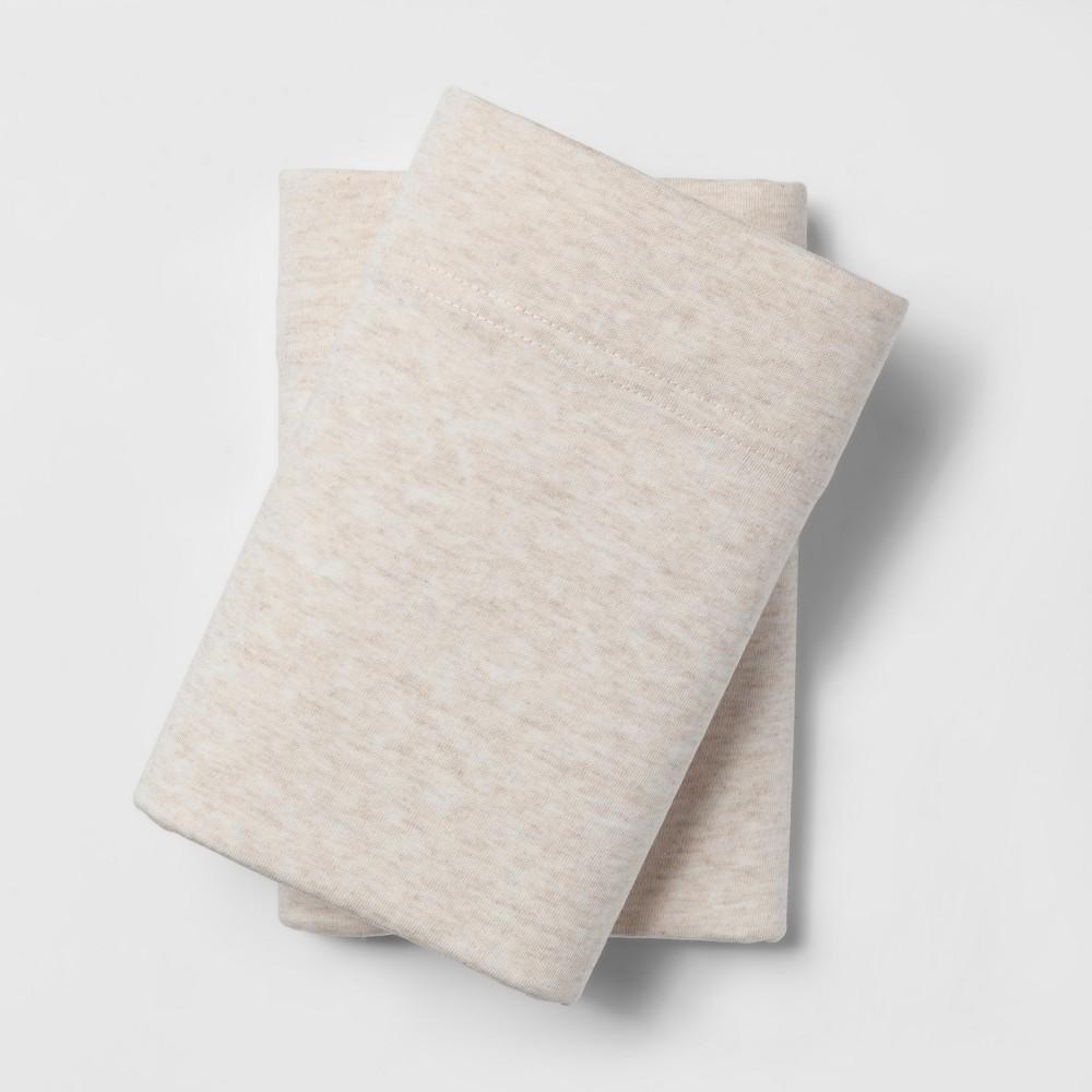 Jersey Pillowcase Set (Standard) Heather Tan - Room Essentials