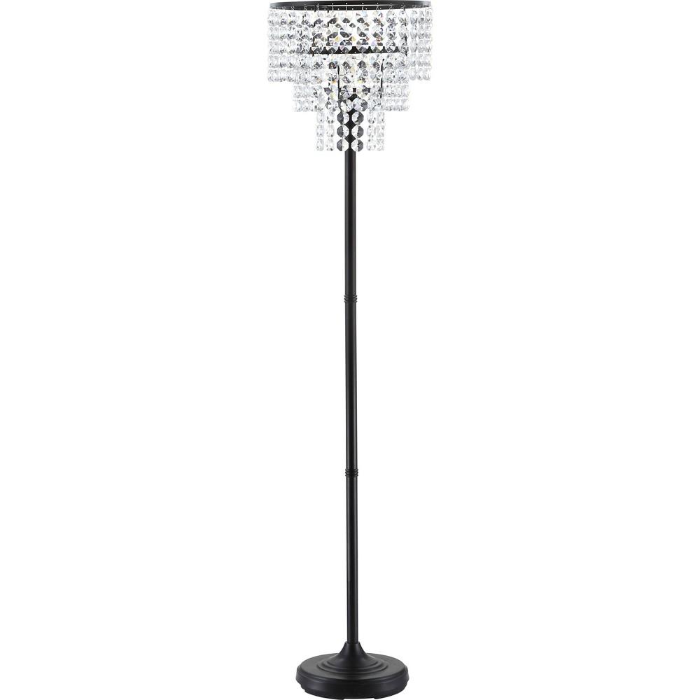 60 Juliette Crystal/Metal Led Floor Lamp Bronze (Includes Energy Efficient Light Bulb) - Jonathan Y