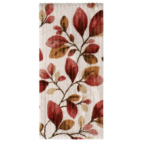 Faithful Birds Leaves Hand Towel Ruby - Saturday Knight Ltd. - image 1 of 2