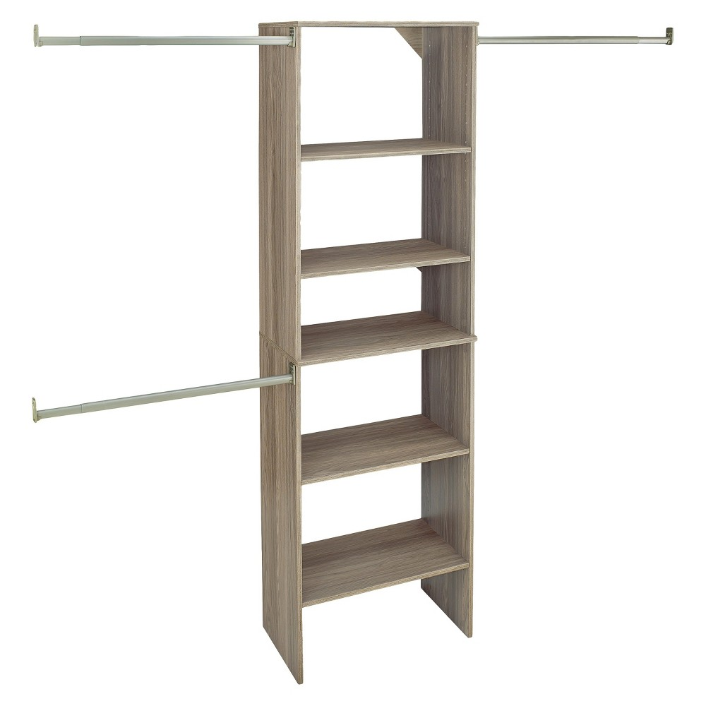 ClosetMaid Suite Symphony 25 Wide Closet System Starter Tower - Natural Gray