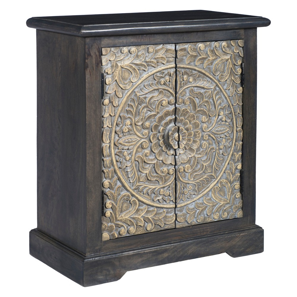 Christopher Knight Home Colony Storage Cabinet Dark Gray
