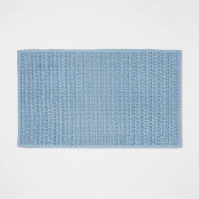 """20""""x34"""" Antimicrobial Bath Mat Blue - Total Fresh"""