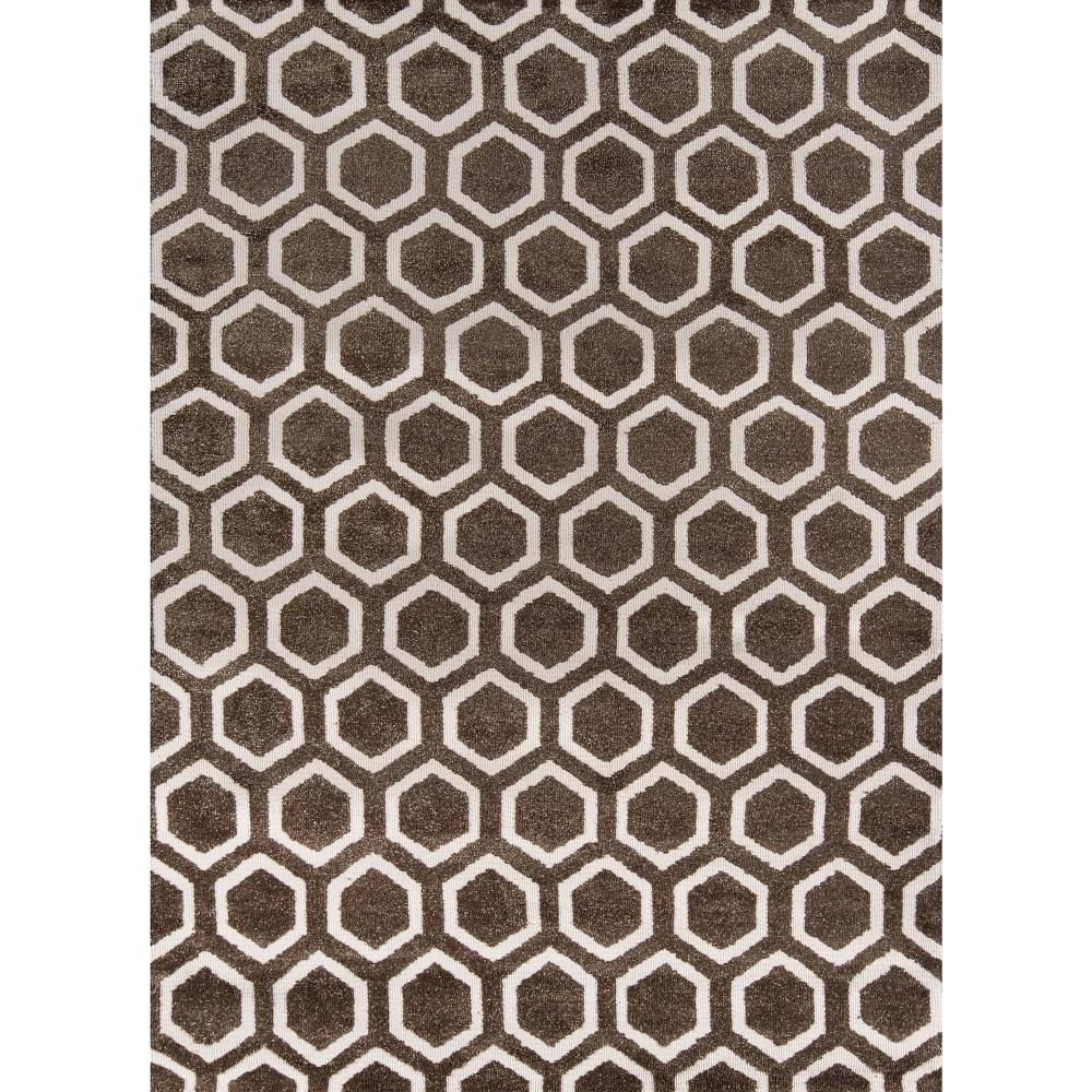 Hexagon Rug - Taupe (Brown) - ( 7'6