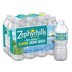 Zephyrhills Brand 100% Natural Spring Water - 12pk/16.9 fl oz Bottles