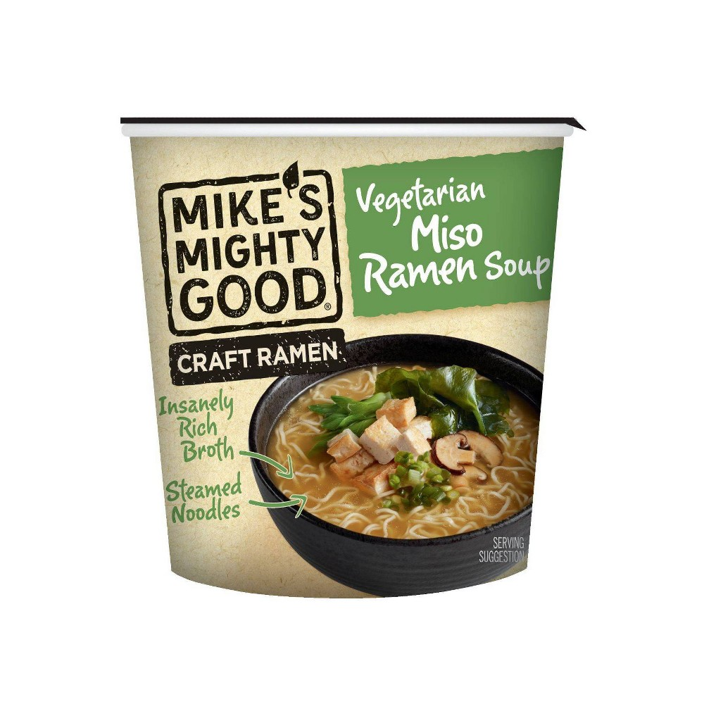 Mike 39 S Might Good Soup Vegetarian Miso Ramen Cup 1 7oz