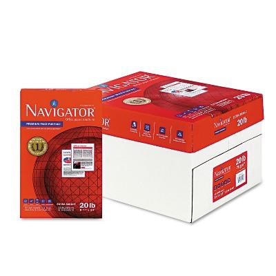 Navigator Premium Multipurpose Paper 97 Brightness 20lb 8-1/2x14 White 5000/Carton NMP1420