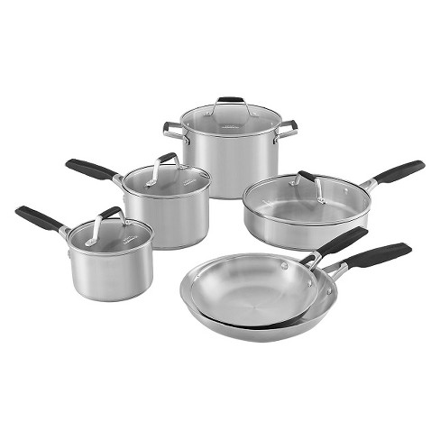 Select By Calphalon 10pc Stainless Steel Cookware Set Target