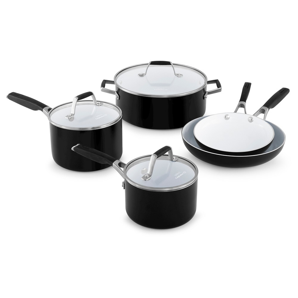 Select by Calphalon 8pc Ceramic Non-Stick Cookware Set, Black