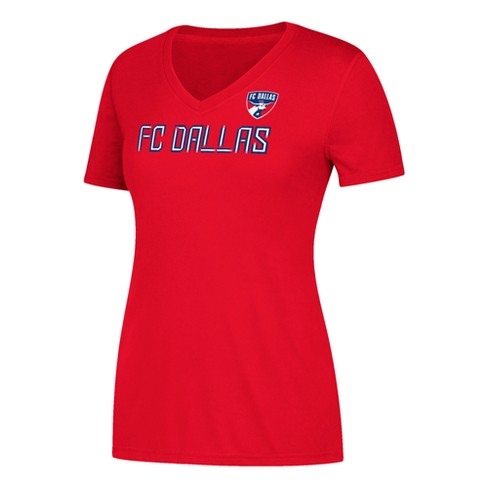 Women's Short Sleeve On the Pitch V-Neck T-Shirt FC Dallas - image 1 of 2