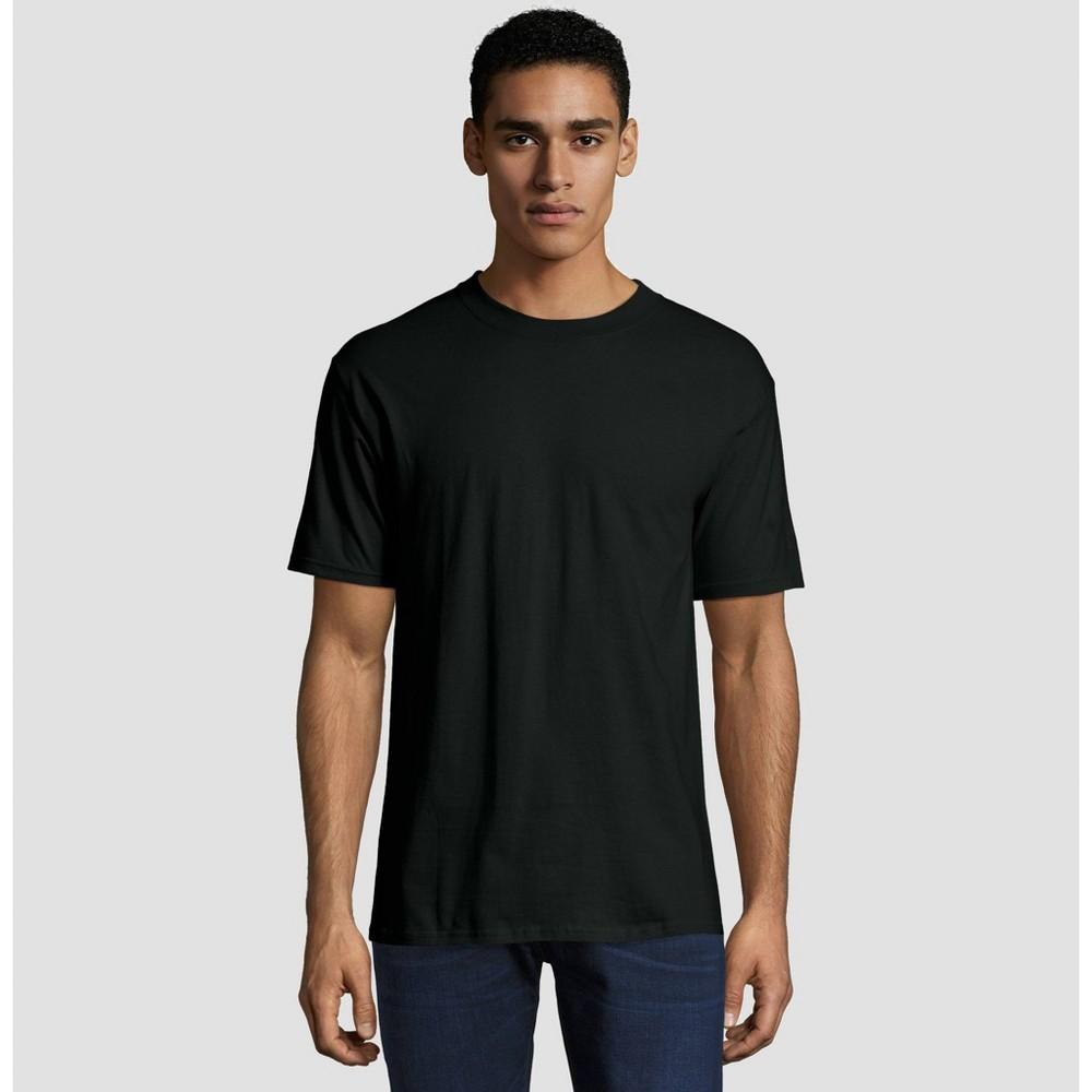 Hanes Men's Big & Tall Short Sleeve Beefy T-Shirt - Black 5XL