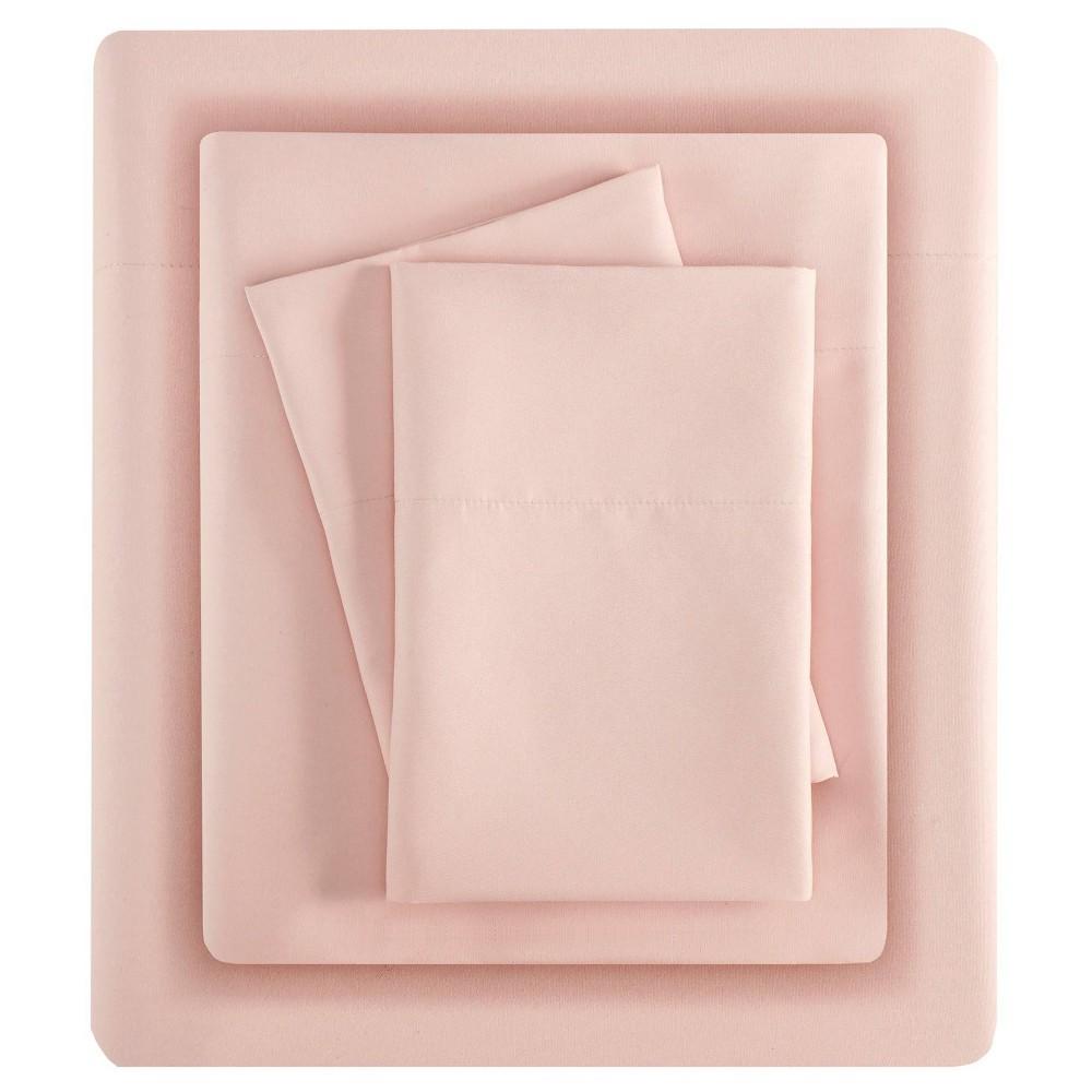Full 3m Microcell All Season Moisture Wicking Lightweight Sheet Set Blushing