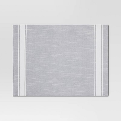 Cotton Striped Placemat Gray - Threshold™