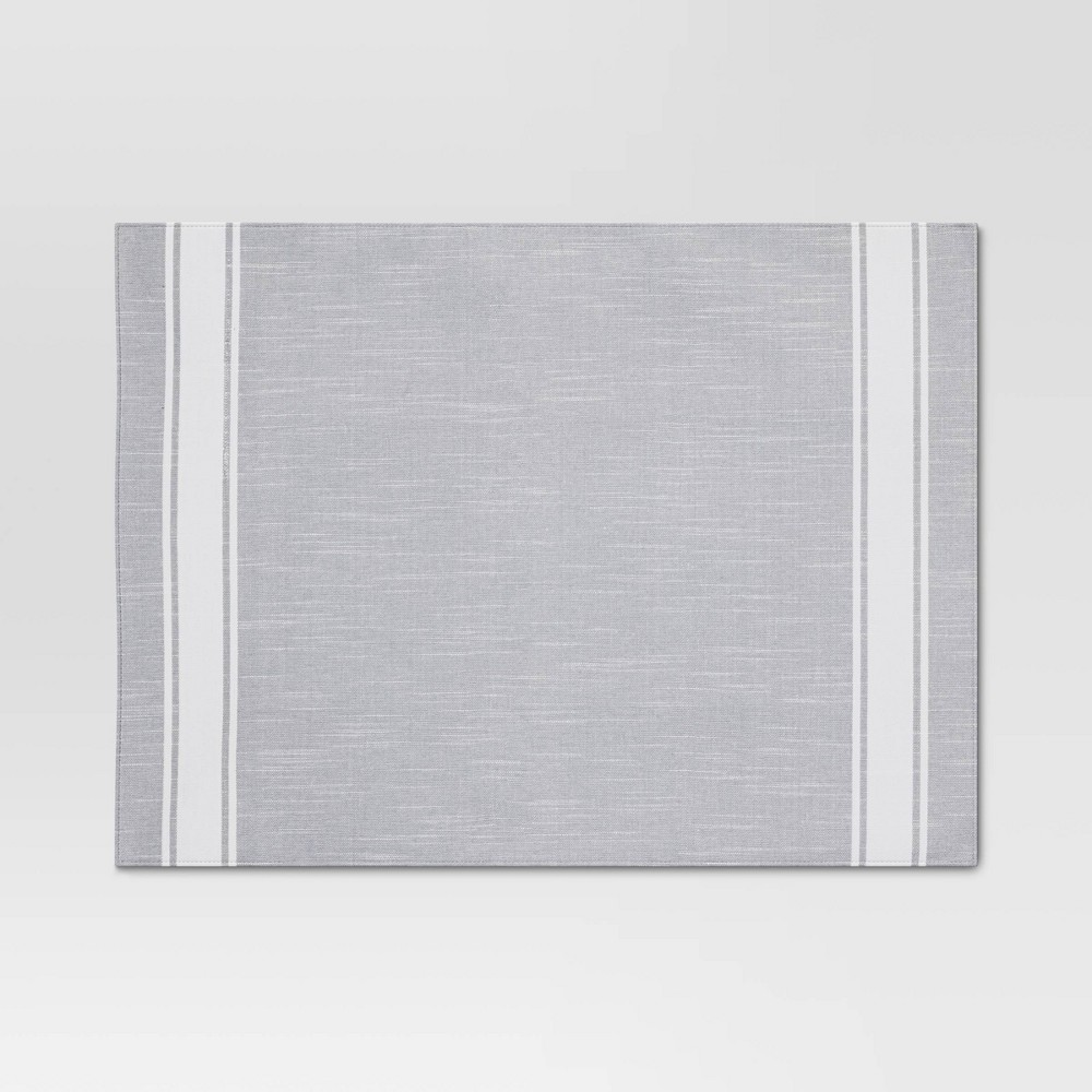 Cotton Striped Placemat Gray Threshold 8482